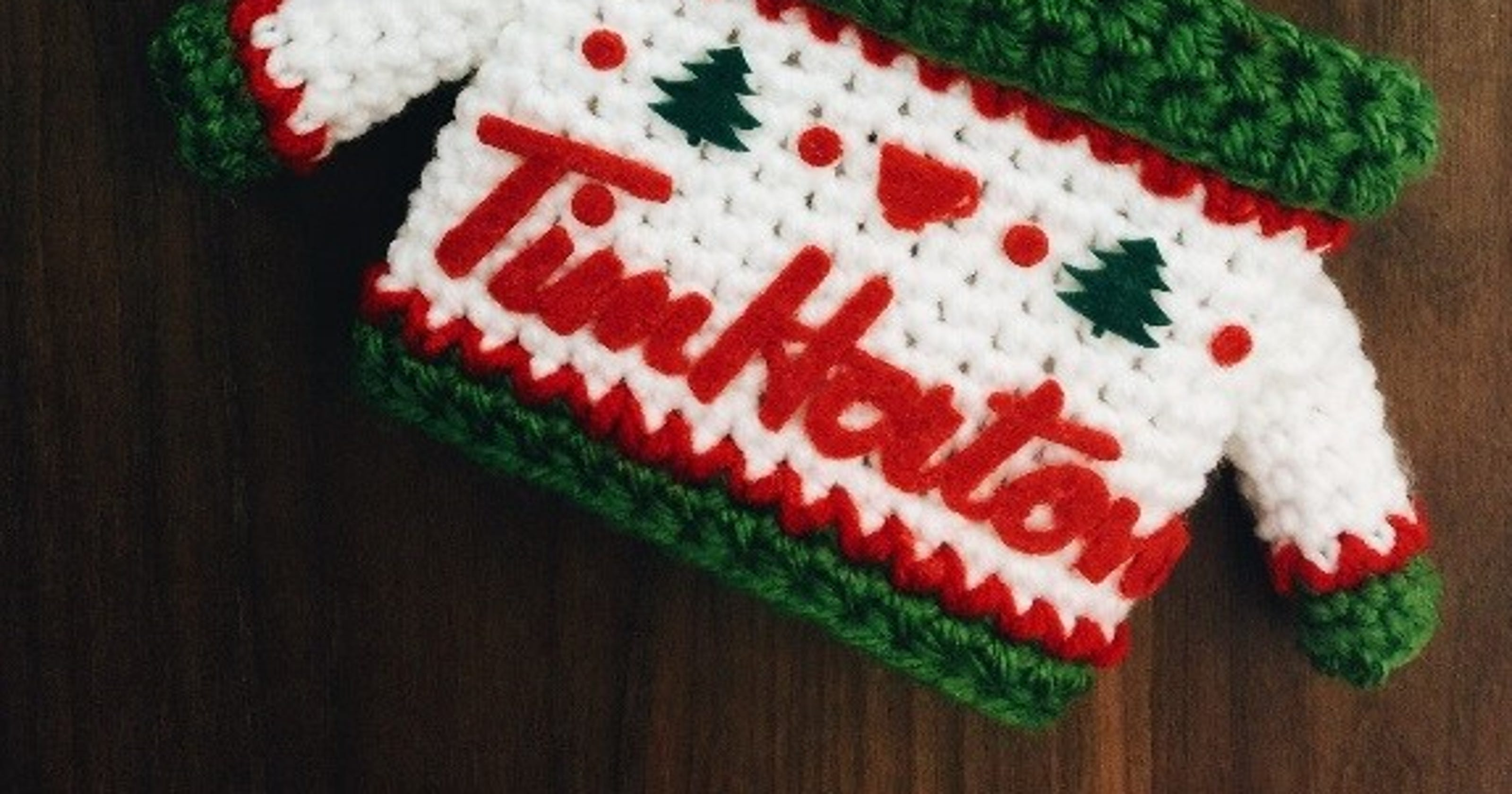 Tim Hortons Dresses Up Cups With Ugly Sweater Koozie