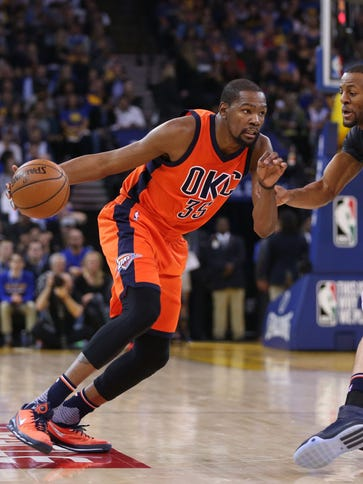 Kevin Durant said he can't help but think about free