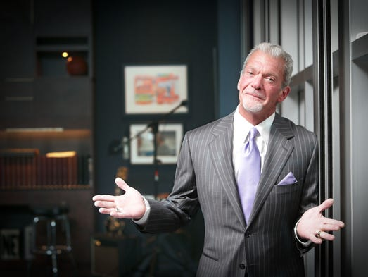 Tuesday June 10th, 2014, Indianapolis Colts owner and CEO Jim Irsay, in his office, at the Indiana Farm Bureau Football Center.