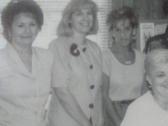 Judith Apple (far left) pictured in the 1999-2000 Belleville High School yearbook.