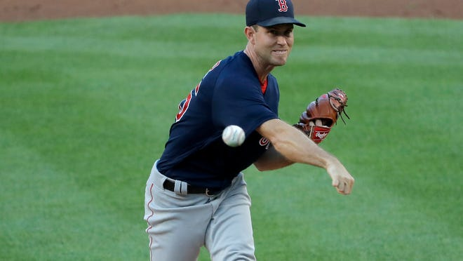 Red Sox pitcher Ryan Weber failed to finish the fourth inning Friday night at Yankee Stadium.