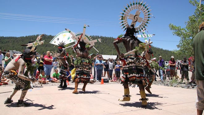 White Mountain Apache Crown Dancers atGreer Days parade