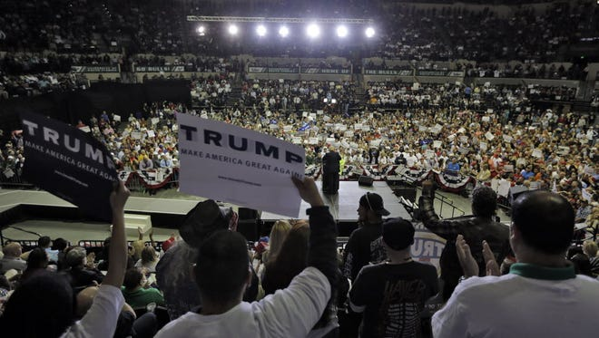 Donald Trump campaigns in Tampa on Feb. 12, 2016.