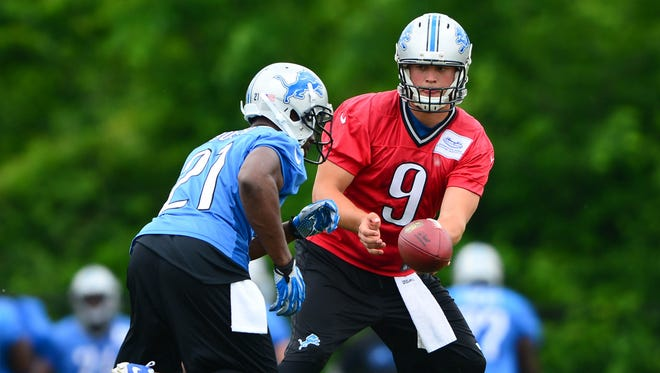 QB Matthew Stafford (9) and RB Reggie Bush remain key components of Detroit's offense.