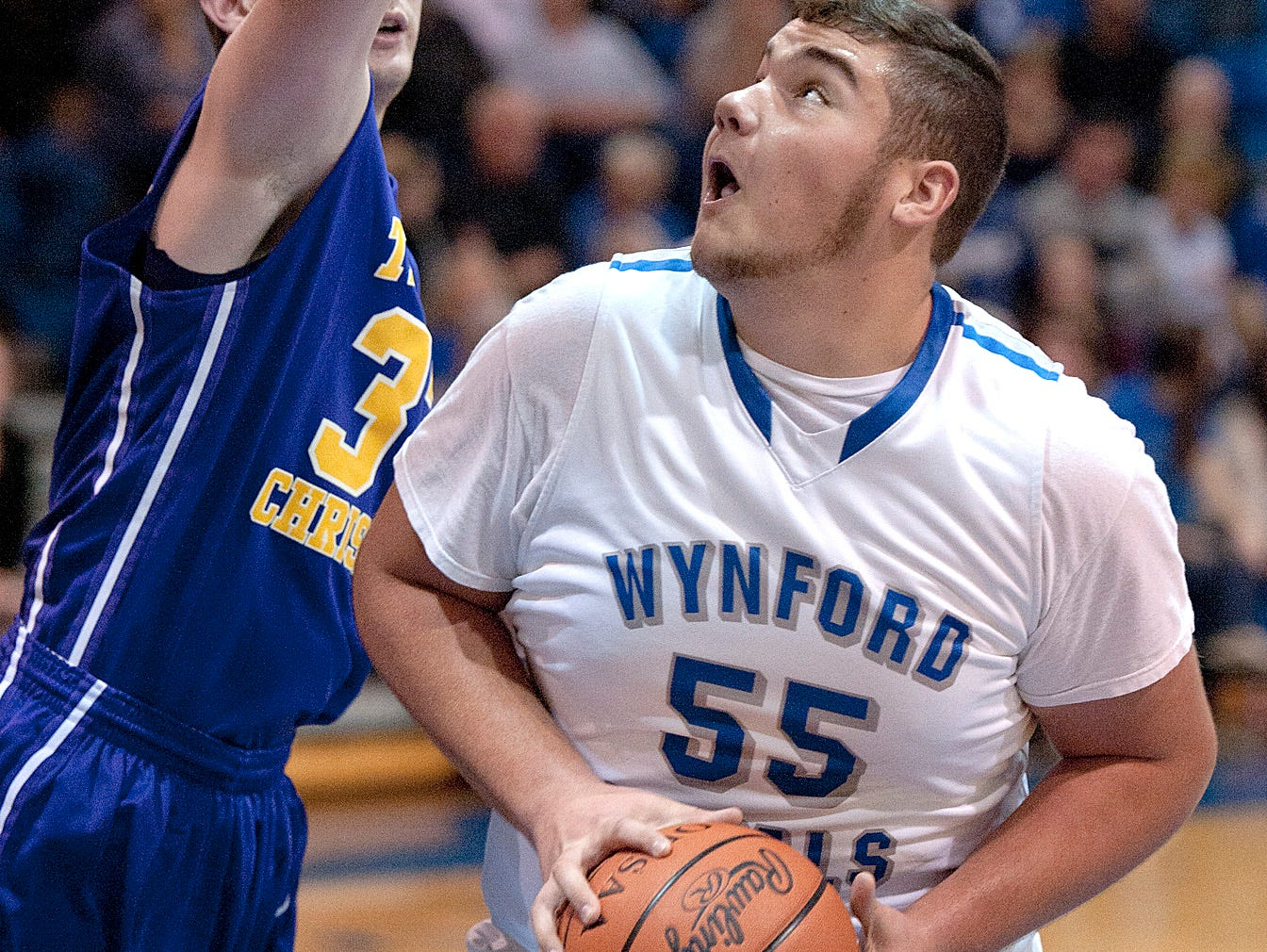 Wynford's Nate Sparks looks to score.