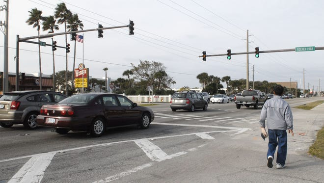 The Cocoa Beach City Commission voted last week to remove its red-light cameras. The city has four cameras at three intersections.    FLORIDA TODAY FILE 1/31/10  The city of Cocoa Beach has set up it's first high-speed red light camera on A1A, at intersection of  Fisher park. Beginning February 1st, the city will issue written warning for the first 60 days. After that, it's ticket time. On Friday, April 2nd, the camera system will golive,and all violators will be subject to paying a $150.00 fine for running a red light, or failing to come to a complete stop.  Photo by Tim Shortt, FLORIDA TODAY , for story by Norman Moody.  EDITOR'S NOTE: Brief VIDEO was also taken .