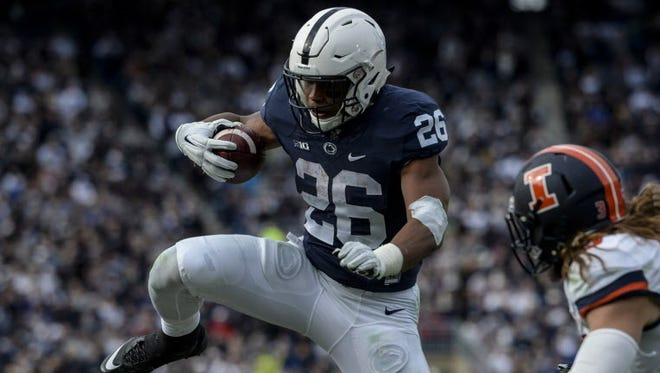 How does Saquon Barkley go about raising his game for his sophomore season?