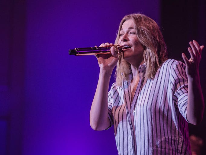 Music artist LeAnn Rimes sings to a sold-out crowd