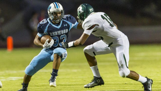 Redwood senior Michael Bean is the Rangers' leading rusher after four games.