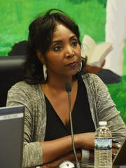 Dr. Felicia Watson, board president for the Poughkeepsie City School District, pictured at a meeting on Oct. 4, 2017 in the Jane Bolin Administration Building on College Avenue.