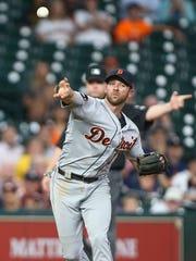 May 24, 2017; Houston, TX, USA; Tigers third baseman