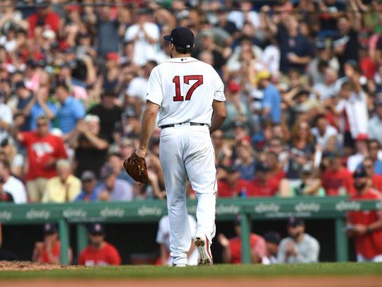 Aug 4, 2018; Boston, MA, USA; Boston Red Sox starting