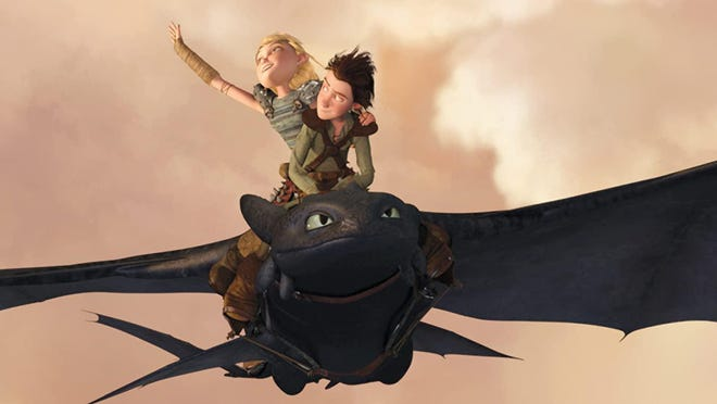 """Jay Baruchel and America Ferrera star in """"How to Train Your Dragon,"""" which is playing Saturday at UPMC Park."""