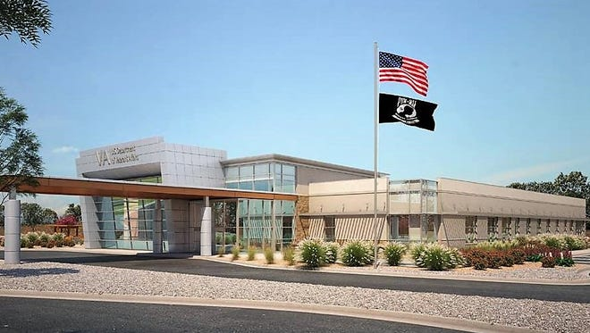 This is a rendering of a planned VA Wellness Center to be built on the Medical Center of the Americas campus in South-Central El Paso. It mainly will offer mental health services, but some primary care services also will be available.
