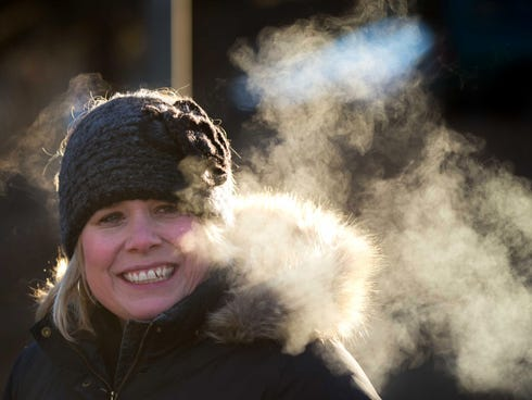 ... cold temperatures in Omaha, Neb., on Jan. 23. / James R. Burnett, AP