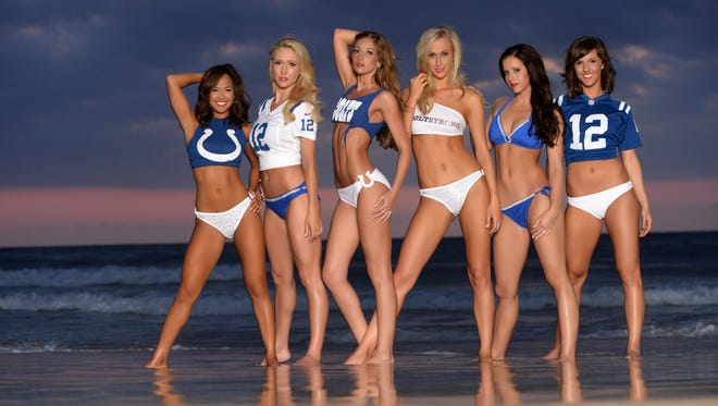 The 2014-15 Indianapolis Colts Cheerleader swimsuit calendar will be unveiled on Friday, July 25, 2014.