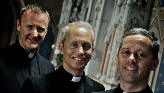 The Priests, a classical musical group of three Roman Catholic priests from Northern Ireland, will perform at UW-Green Bay's Weidner Center for the Performing Arts at 7:30 p.m. Friday, March 20. From left are the Rev. David Delargy, the Rev. Eugene O'Hagan and the Rev. Martin O'Hagan.