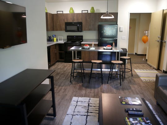Tech Village, a new student housing option available for those attending Fox Valley Technical College in Grand Chute, is the closest thing the school has had to a residence hall. It was unveiled Monday at an open house.