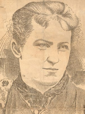 Pearl Bryan was murdered in 1896. The sensational trial convicted Scott Jackson and Alonzo Walling of her murder. Scanned from the Cincinnati Enquirer clip files from March 21, 1897.