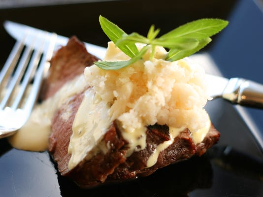 One Sensational Steak with Blender Bearnaise and Crab.jpg