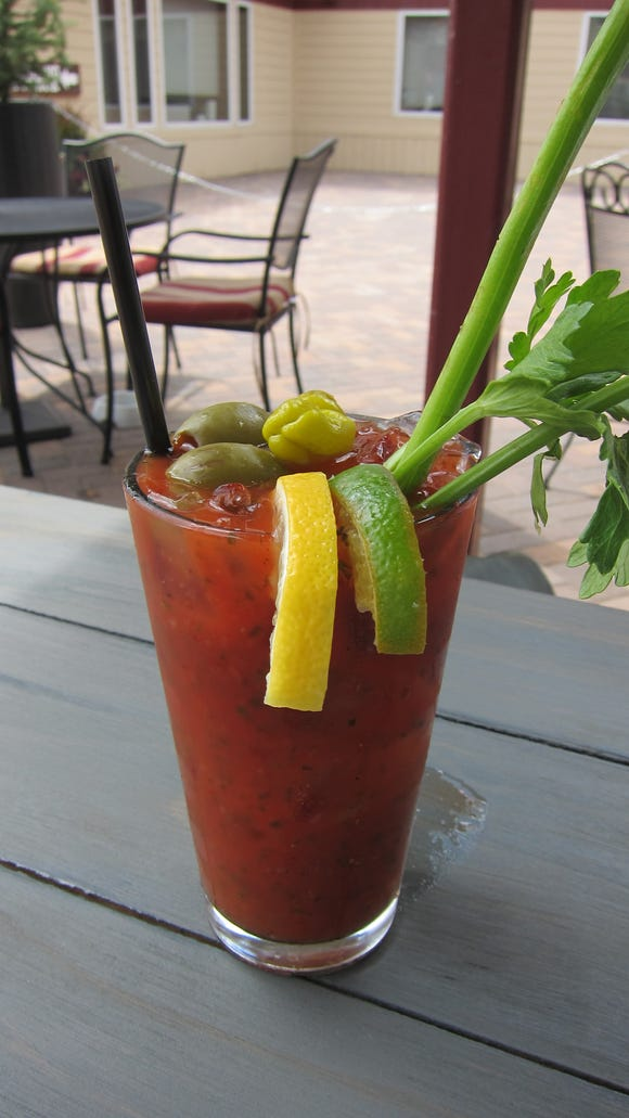 Just like the food, the signature Bloody Mary is large