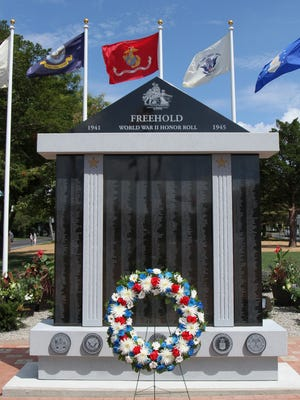 A new monument honors Freehold residents who served in World War II.