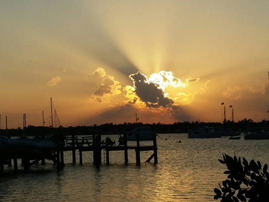 Jim Ferro took this photo of the sun setting at Shepard Park in Stuart.