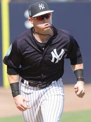 Yankees workout this afternoon. Clint Frazier runs