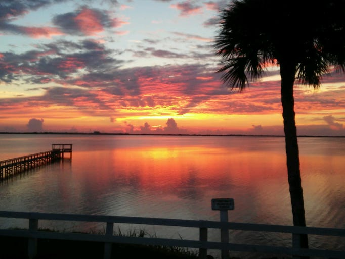 Denise Agnello took this photo of the sun rising in
