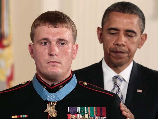 President Obama awards the Medal of Honor to former