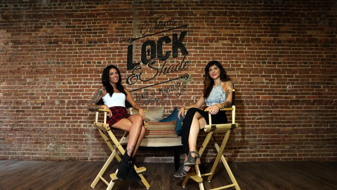 A new hair salon called Lock and Shade located at 605 Lake Ave. in Asbury Park is photographed on Friday  August 12, 2016.  Co owners Bianca Bertoli (left) and Laura Allen (right) are  pictured here in their new salon.