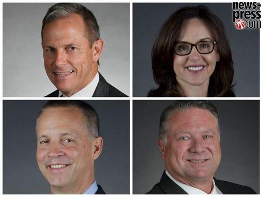 Candidates Paige Kreegel, Lizbeth Benecquisto, Curt Clawson and Michael Drei.jpg
