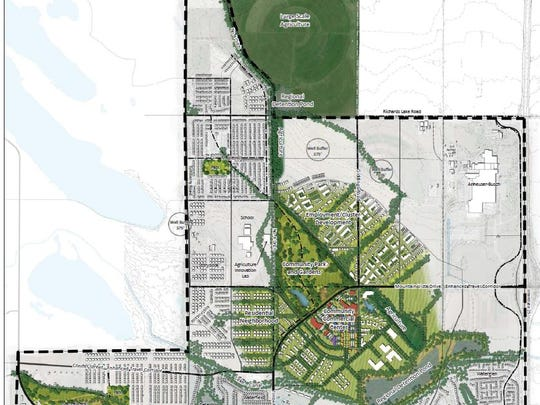 This map shows the potential look of the Mountain Vista subarea being considered by the city of Fort Collins.