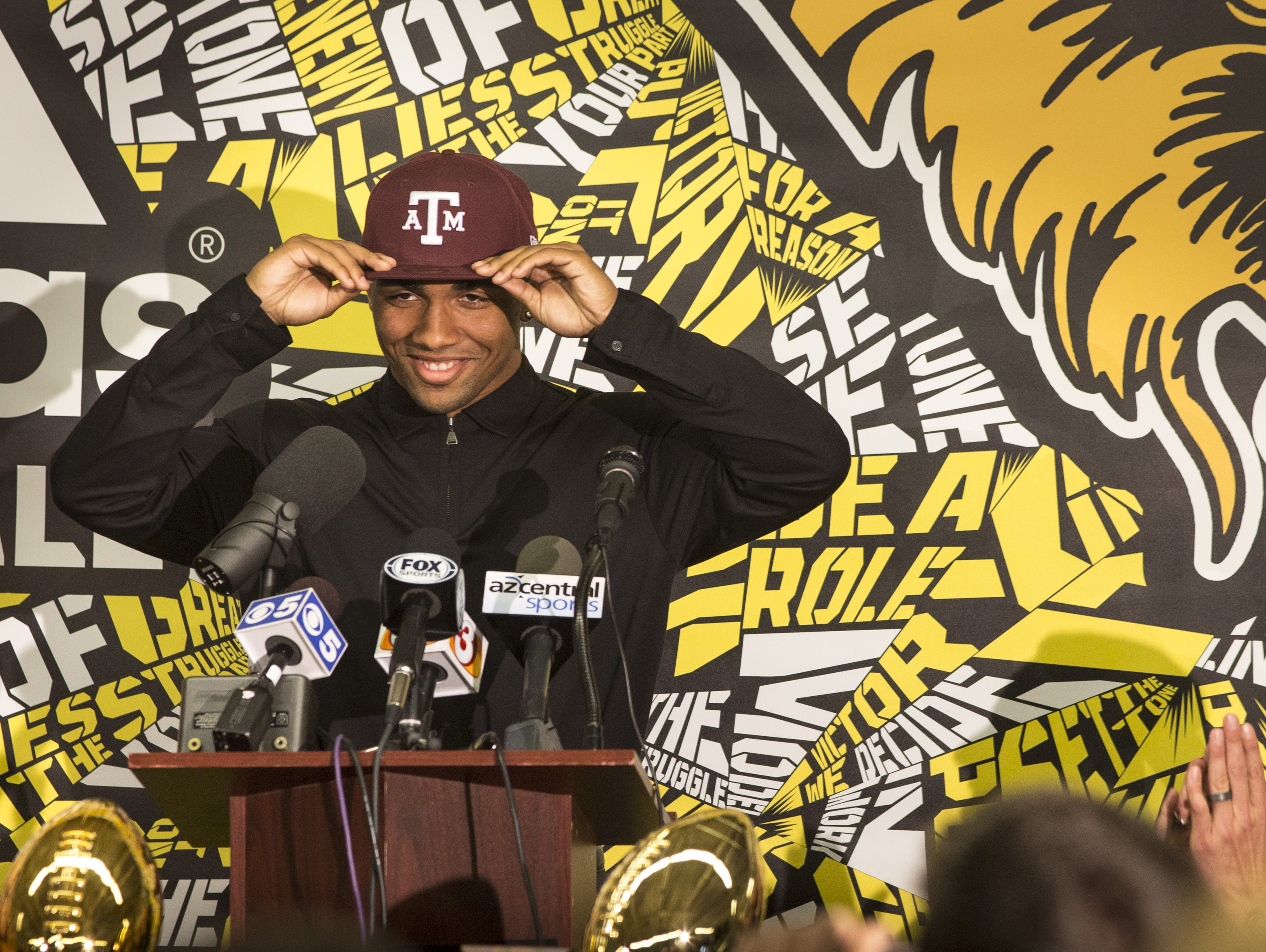 Saguaro High School star football receiver Christian Kirk chose Texas A&M over ASU. He will play ASU in his first game as a starting receiver for A&M.