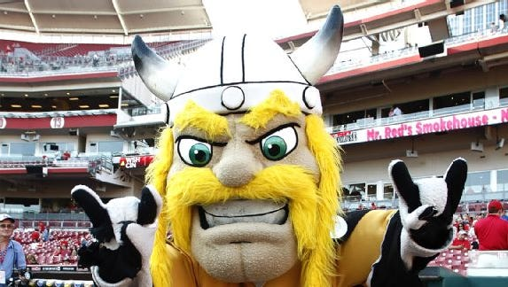 Victor E. Viking is so frightening, per ESPN.com, that he made its Top 10 scariest mascots list.