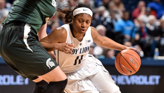 Teniya Page during the Lady Lions game against Michigan State in January.