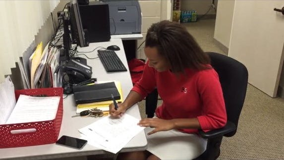 Evangelical Christian School senior Holly Golden signed with Oral Roberts on Wednesday.