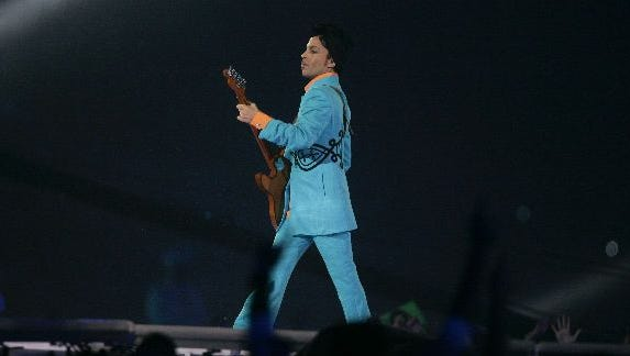 Prince invited the FAMU Marching 100 band to help out with his rainy show at the Super Bowl in 2007.