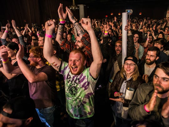 Fans crowd the sold-out Mike Gordon show Thursday night, April 5, 2018, at Higher Ground in South Burlington. For 20 years, the venue has been an pillar of local music scene.