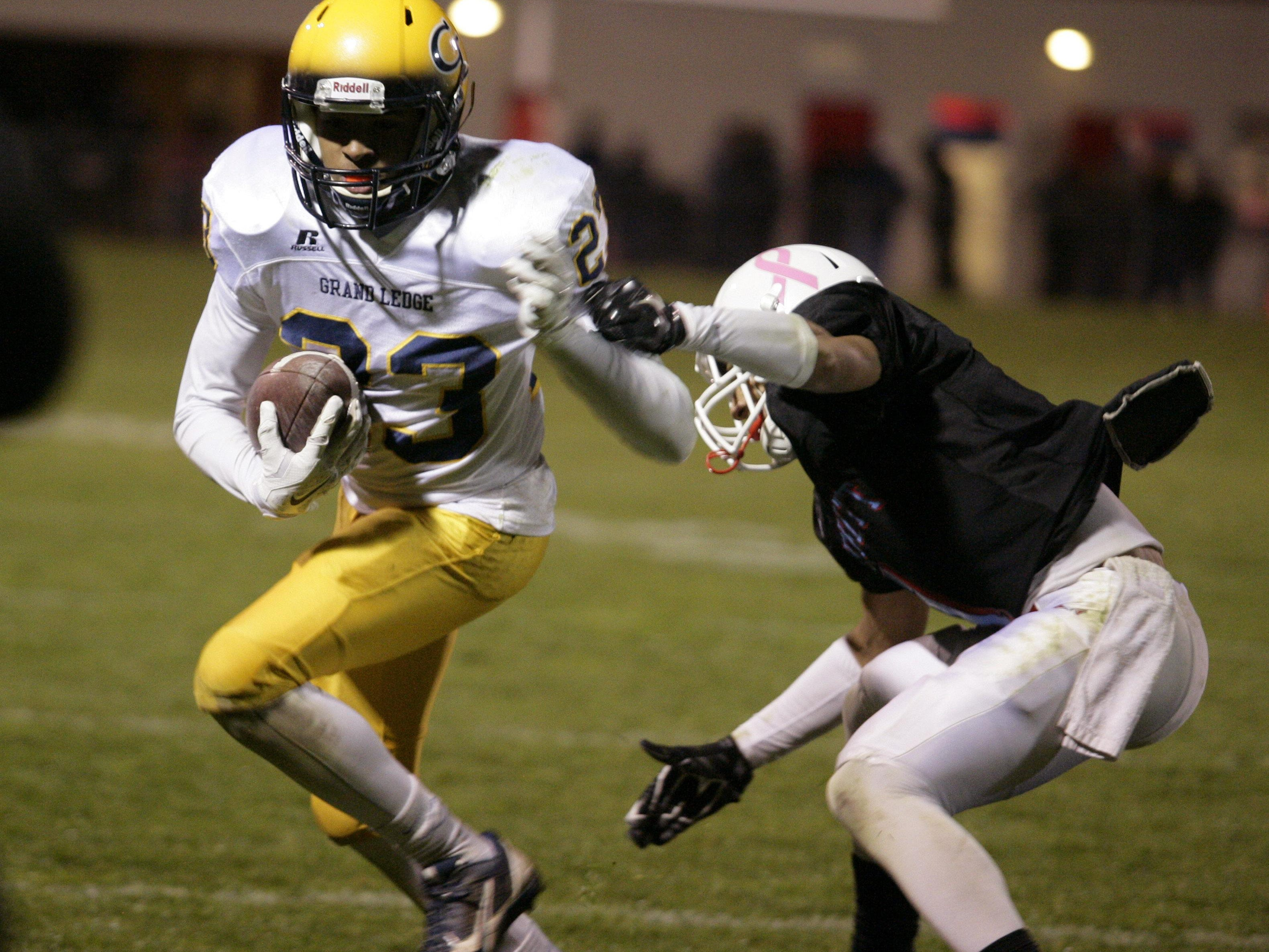 Senior Malek Adams was a first team all-CAAC Blue receiver last fall and is a key offensive returner for Grand Ledge.