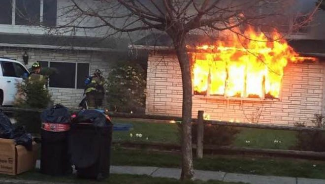A fire at 20 Overlook Terrace in Nutley on Sunday, April 16, displaces a family of four.