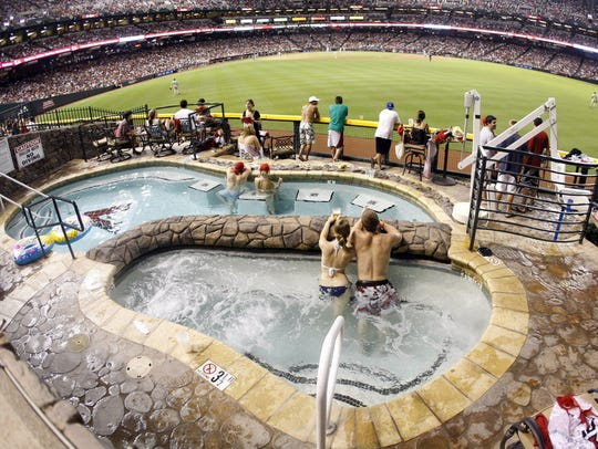 Chase Field is unique in that it features a swimming