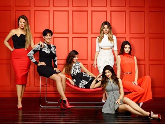 Pictured: (l-r) Khloe Kardashian, Kris Jenner, Kourtney Kardashian, Kim Kardashian, Kylie Jenner, Kendall Jenner.