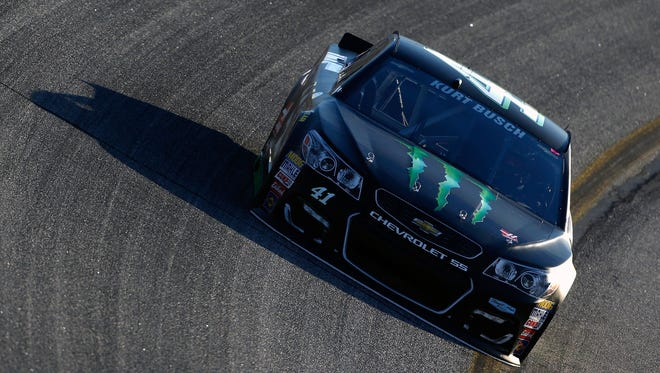 Kurt Busch posted the second-fastest speed in the final round of qualifying Friday at Atlanta Motor Speedway but was moved up to the pole after younger brother Kyle failed post-qualifying inspection.