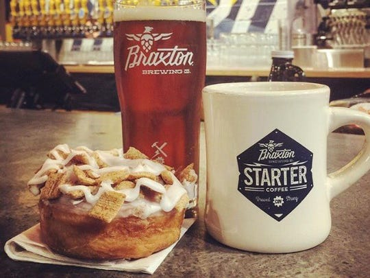 "Braxton Brewing Company in Covington has partnered with Yelp Cincinnati and Holtman's Donuts to bring Cincinnatians a German Alt Beer infused with Cinnamon Toast Crunch doughnuts and cinnamon. The beer is in correlation with the companies' ""Baked and Brewed"" National Doughnut Month celebration, and will only be available during the month of October."