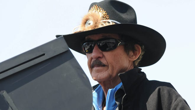 Sprint Cup Series owner Richard Petty, shown here in March 2013 at Bristol Motor Speedway, has not been at a race since wife Lynda died on March 25.