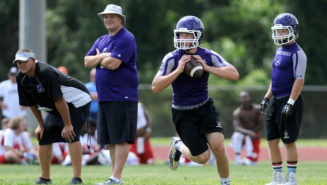 Ben Young and Mitchell will be part of Tuesday's Warrior 7-on-7 football tournament at Erwin.