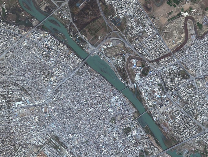 Old city and eastern Mosul photographed on Nov. 13,
