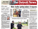 The front page of The Detroit News on Friday, July
