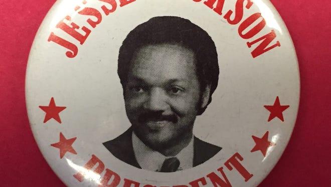 Jesse Jackson campaign button.